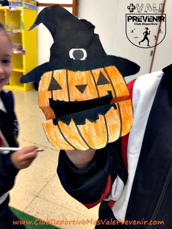 manualidades calabaza papel halloween para niños
