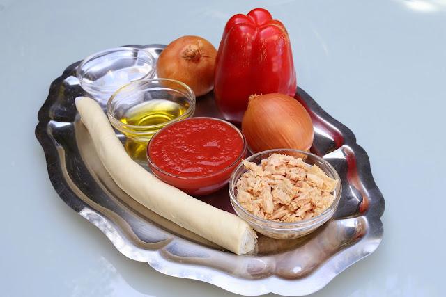 Ingredientes para empanada de atún