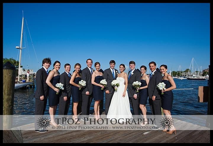 Annapolis Wedding bridal party on the docks