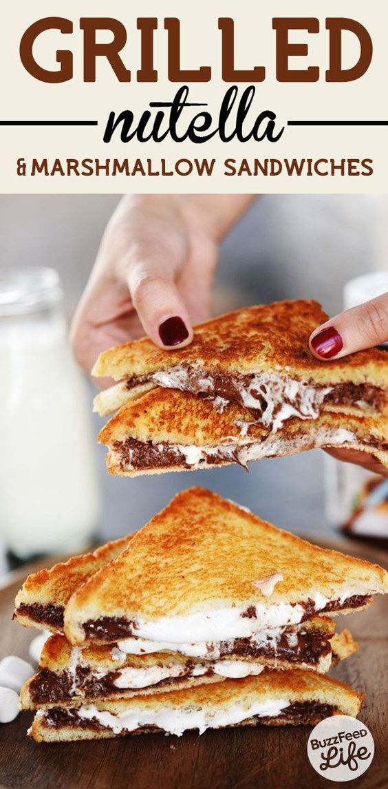 Grilled Nutella & Marshmallow Sandwiches