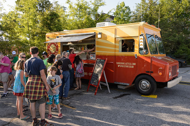 Food Truck at the White Squirrel Festival in Brevard, NC