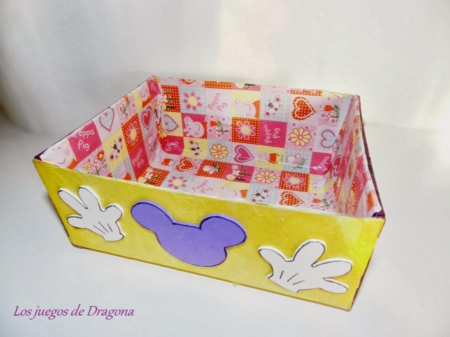 Los juegos de dragona mickey caja para las plastilinas - Como adornar una caja de zapatos ...