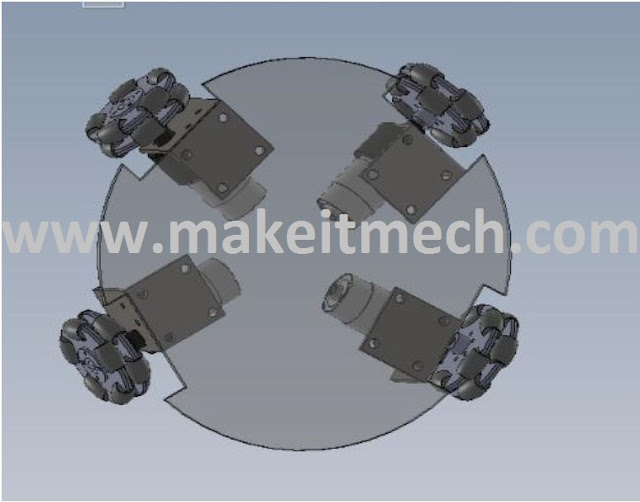 robot base design for omni wheel robot.details about making robot design.