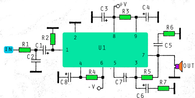 70W STK amplifier circuit