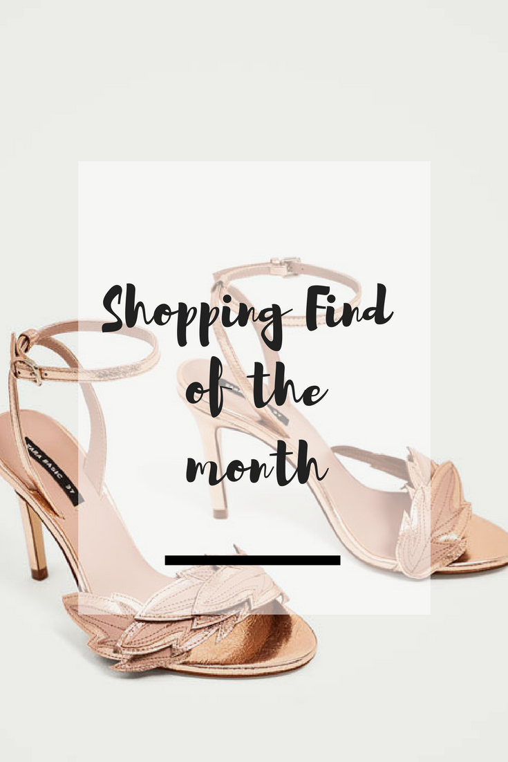 Shopping Find: Zara Rose Gold Leaf Sandals - Ioanna's Notebook