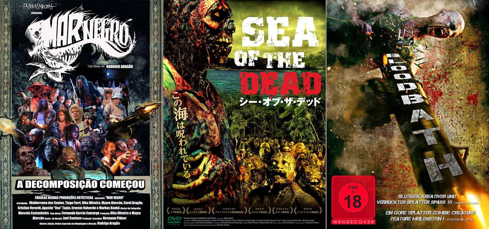 Mar Negro, da sinistra: poster brasiliano, giapponese tedesco