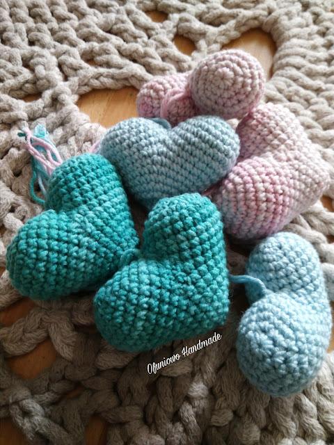Crochet hearts - Ofuniowo Handmade