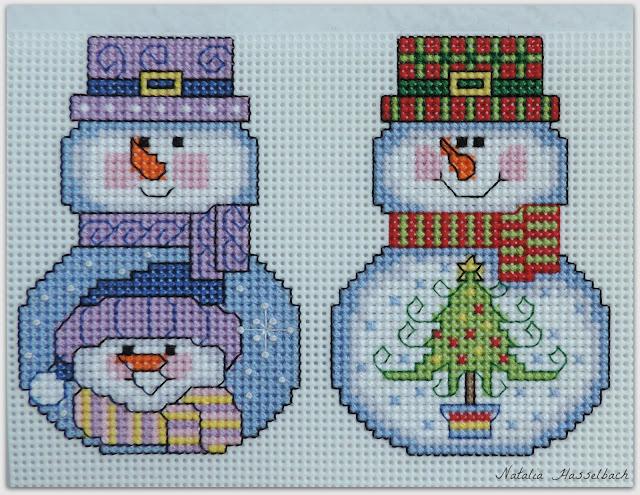 Снеговик вышивка пластик сп вышивканапластике Janlynn Wizzers
