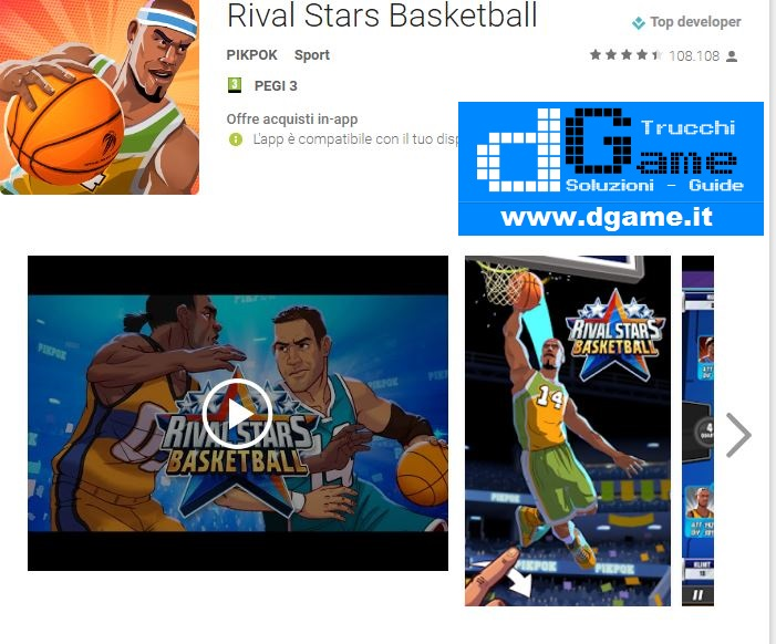 Trucchi Rival Stars Basketball Mod Apk Android v2.4.1