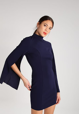 zalando missguided robe en jersey navy