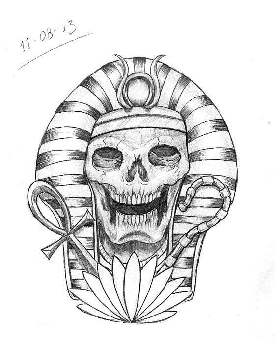 Tattoo Sketch A Day  Egyptian August 8th