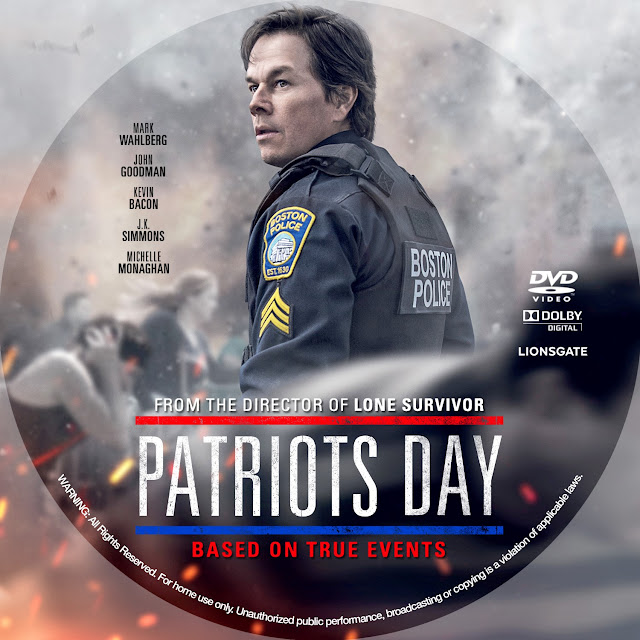 Patriots Day DVD Label