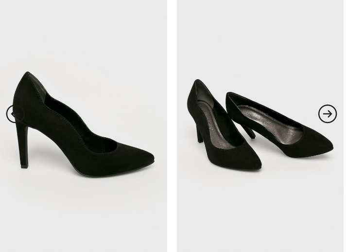 Marco Tozzi - Pantofi cu toc negri eleganti ieftini pentru evenimente negri