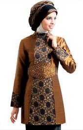 Gambar Baju Batik Musilm untuk Remaja