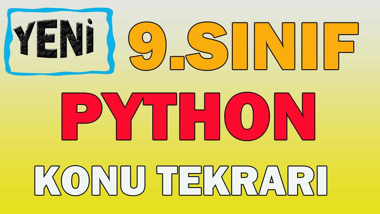 9.Sınıf Bilgisayar 2.Dönem 1.Yazılı Python