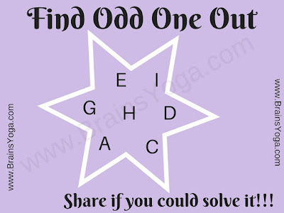 Logical Puzzle to find Odd Letter Out