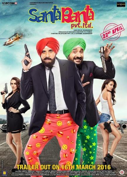 Poster Of Santa Banta Pvt Ltd 2016 480p Hindi DVDScr Full Movie Download