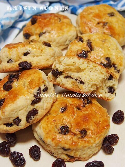 resep raisin scones mudah