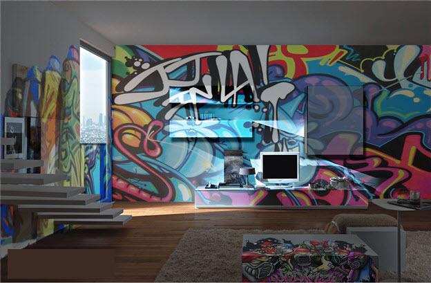 tapet graffiti ungdomstapet tjejrum killrum pojktapet ungdomsrum fondtapet
