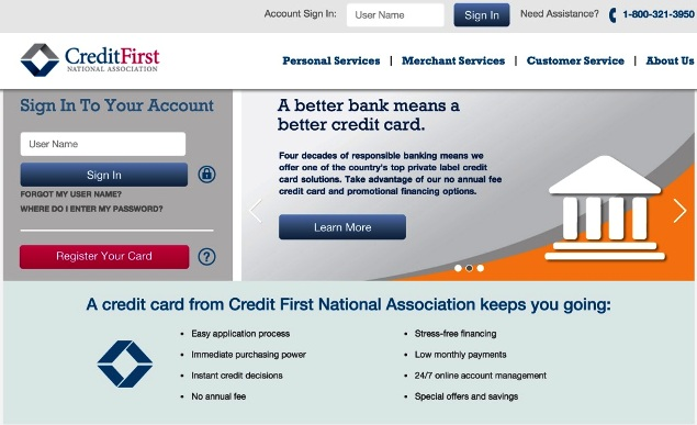 CFNA: Firestone Credit Card Login