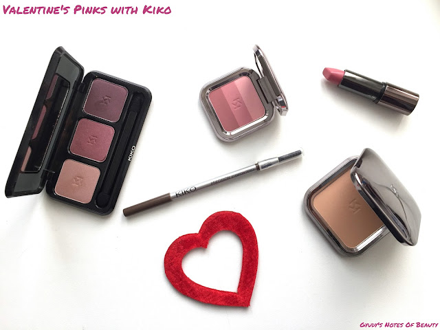 Kiko Matte Fusion Powder Shade Trio Blush Eyeshadow Precision Eyebrow Pencil Look