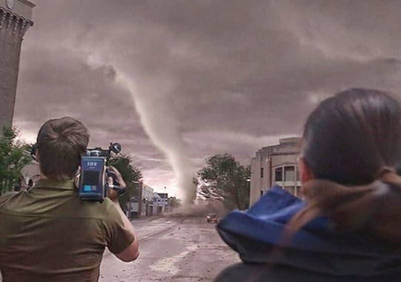 filming tornado Into The Storm