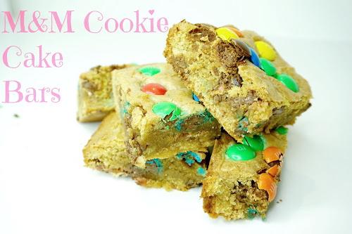 M&M Cookie Dough Bar Recipe