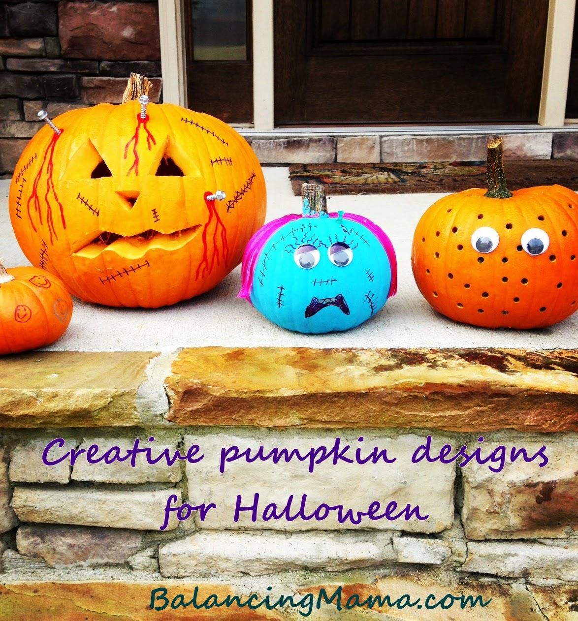Creative Halloween Decoration Ideas: From @BalancingMama: Creative Pumpkin Designs For Halloween