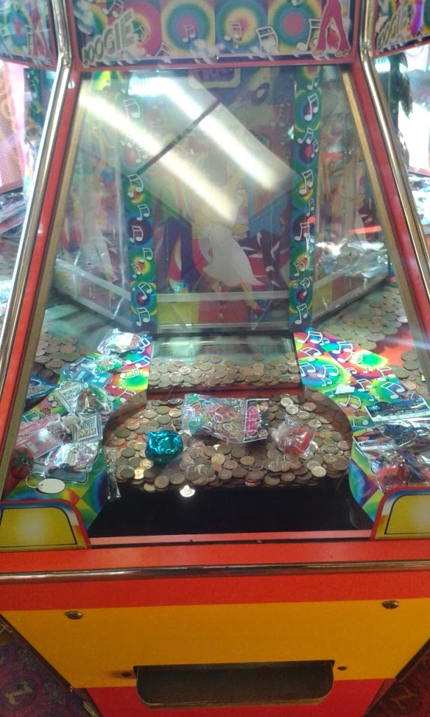 It's not often in this day and age that you see a one penny pusher in the arcade. They're normally 2p or 10p machines