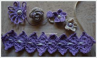 free crochet pattern flower motifs