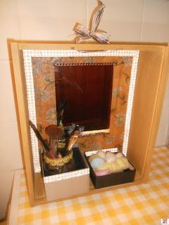 caja de vino reciclada