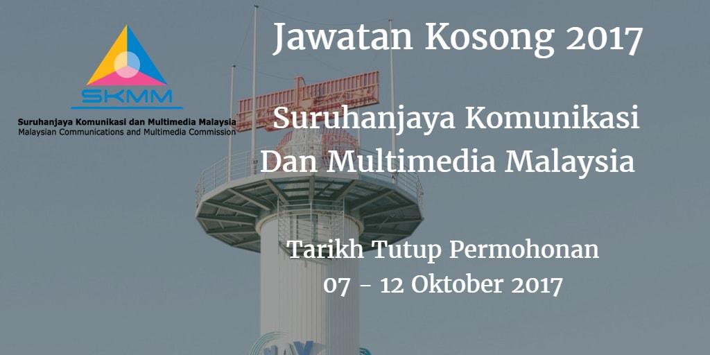 Jawatan Kosong MCMC 07 - 12 Oktober 2017