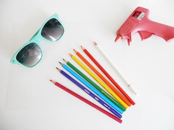DIY : lunettes de soleil arc-en-ciel
