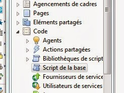 Les scripts de la base de courrier