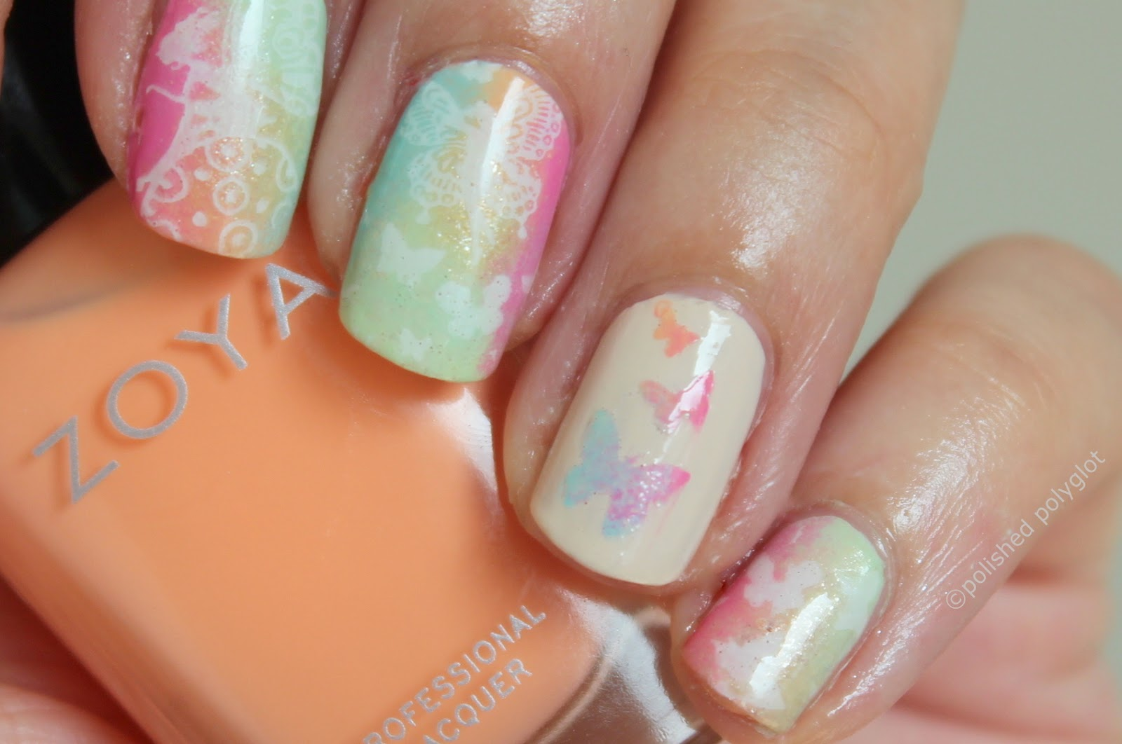 NOTD | Spring inspired manicure / Polished Polyglot