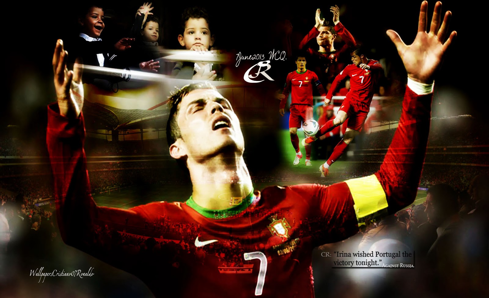 Captain Cristiano Ronaldo Cr Junior Wallpaper Portugal World Cup Qualification