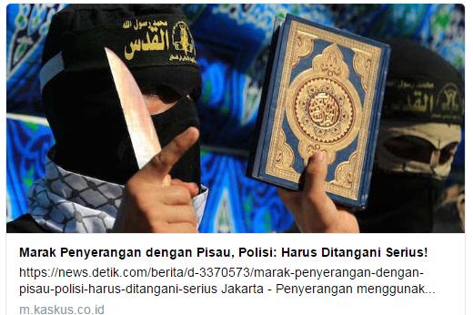 Kaskus Diprotes Karena Judul Penyerangan Pisau Tapi Gambar Al-Qur'an