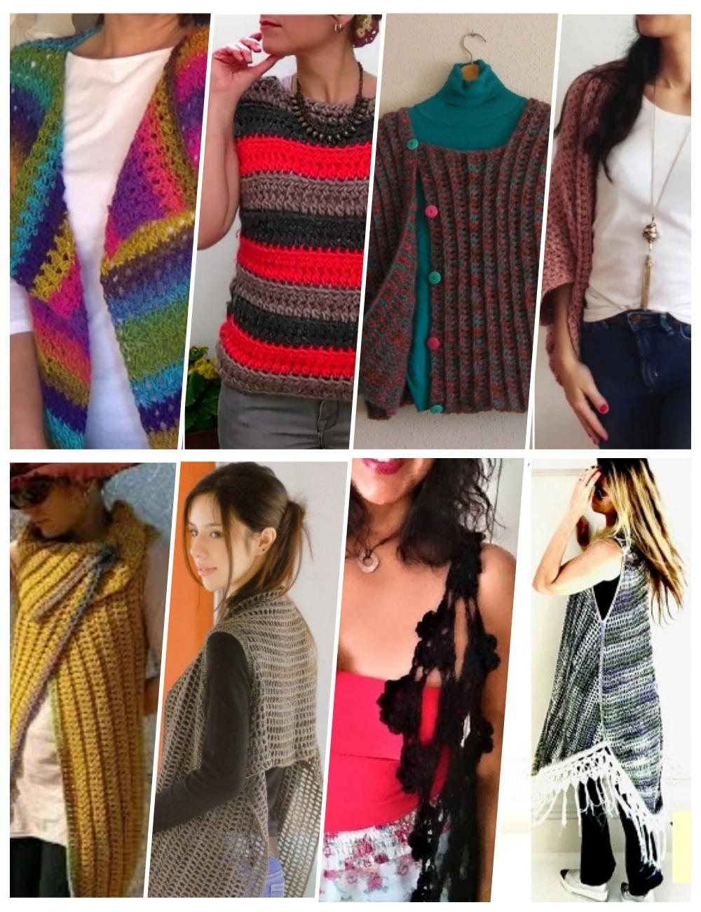 chalecos crochet, tutoriales chalecos tejidos, patrones crochet, enrhedando