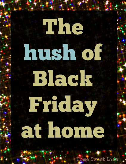 black friday alternatives, contentment, family time