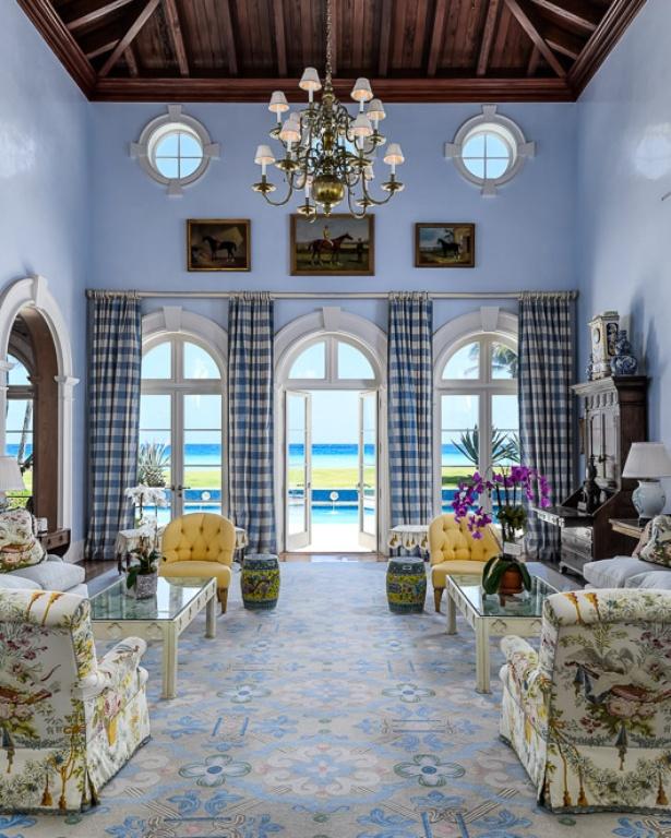 Palm Beach Chic Circa 1990s: An Oceanfront Palm Beach Paradise For Sale