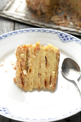 Napoleon , gâteau russe , pâte feuilletée , cuisine russe , crème vanille