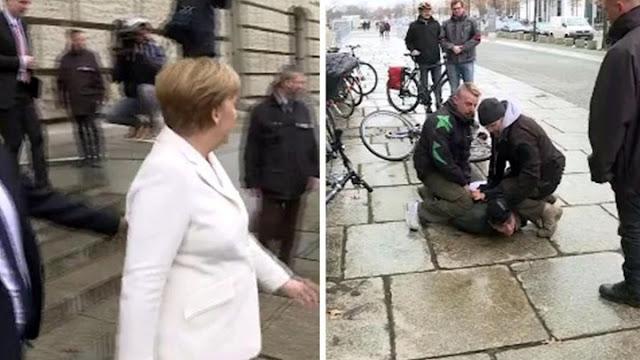 Σοκ στη Γερμανία - Απετράπη επίθεση κατά της Μέρκελ (video)