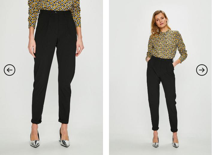 Noisy May - Pantaloni negri de dama ieftini