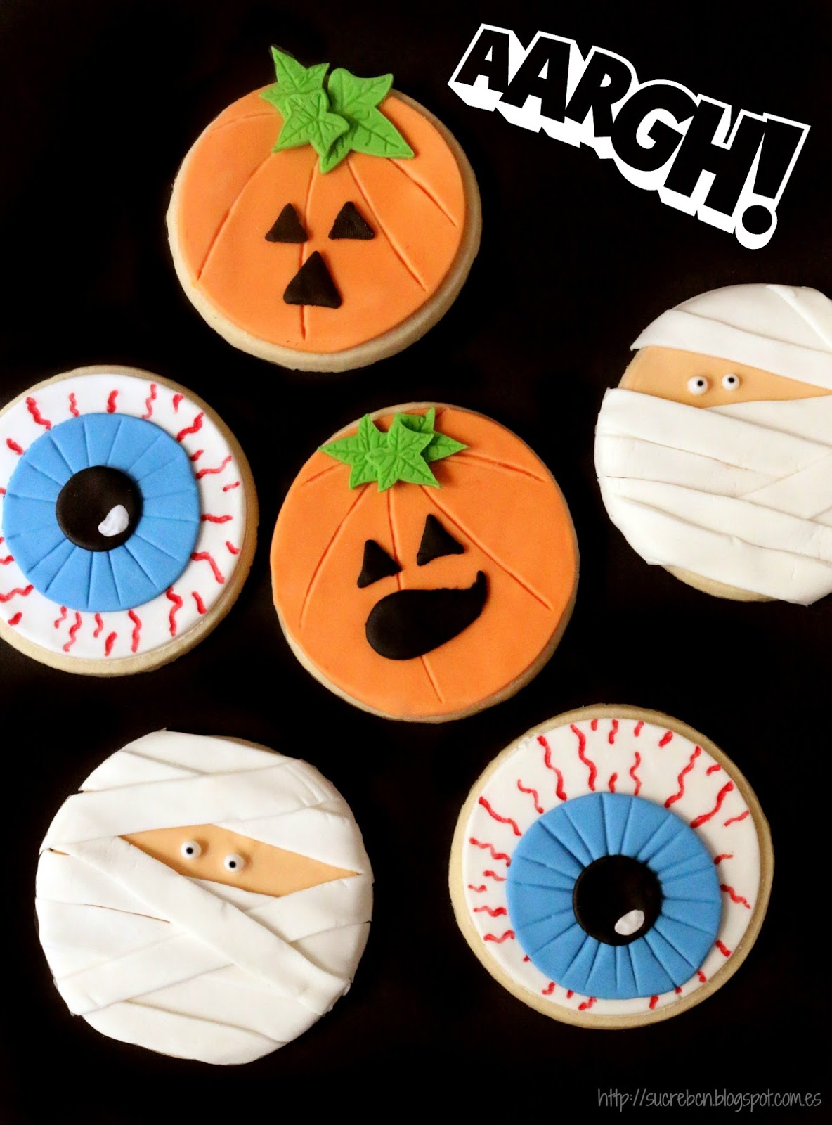 Galletas Decoradas Hallowen Sucre De Maduixa Galletas Terroríficas Para Halloween