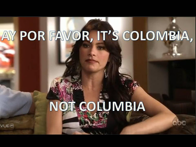 It's Colombia-- NOT Columbia