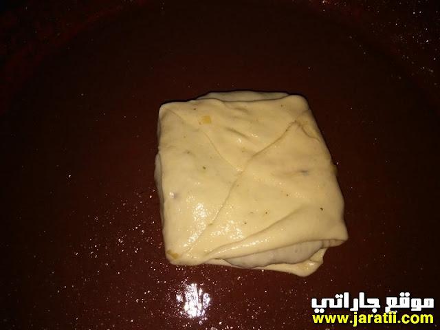 مسمن معمر بالخضر واللحم المفروم بالصور