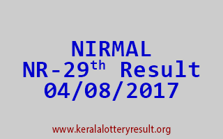 NIRMAL Lottery NR 29 Results 4-8-2017