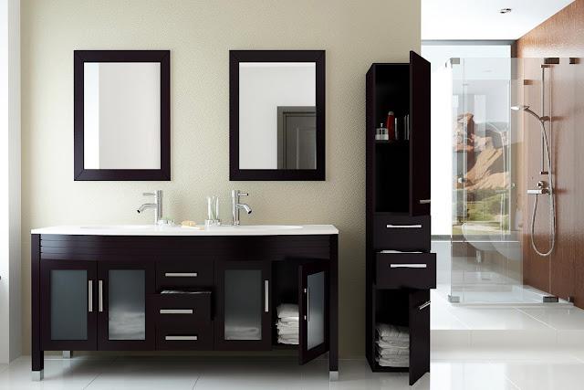 63 inch Double Bathroom Vanity Stone Top
