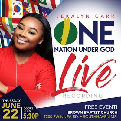 "Jekalyn Carr Preps For New Live Recording, ""One Nation Under God,"" June 22nd In Mississippi"