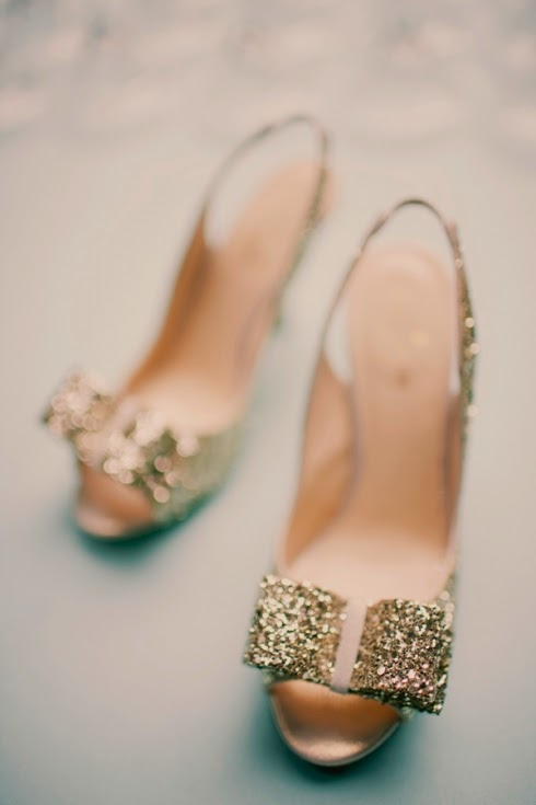 Gold Wedding Shoes for the Bride-To-Be